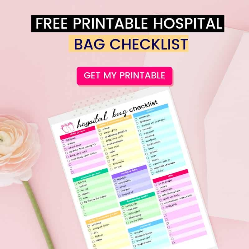 graphic about Hospital Bag Checklist Printable named The Simply just Healthcare facility Bag Record Youll Have to have (Moreover Absolutely free