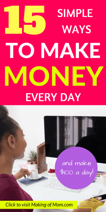Make Money Fast - looking for ideas and tips on how you can make extra cash from home? Here are 15 ideas you can use to start making $100 a day!