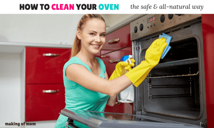 Safe Nesting Series: Clean Your Oven The All Natural, Pregnancy, and Kid-Safe Way