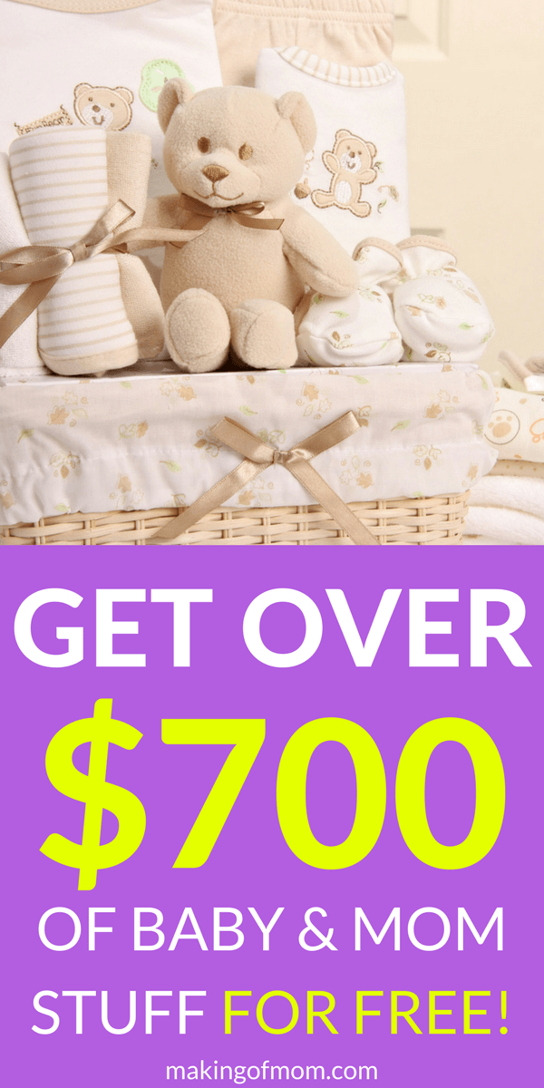 Looking for ways to save money on baby stuff? Here are over 10 different must have baby (and new mom) things you can get for free! What could be better than free? I've got a coupon code for you that will get you up to $700 of freebies! #babystuff #musthavebabystuff #freebabystuff #babygear