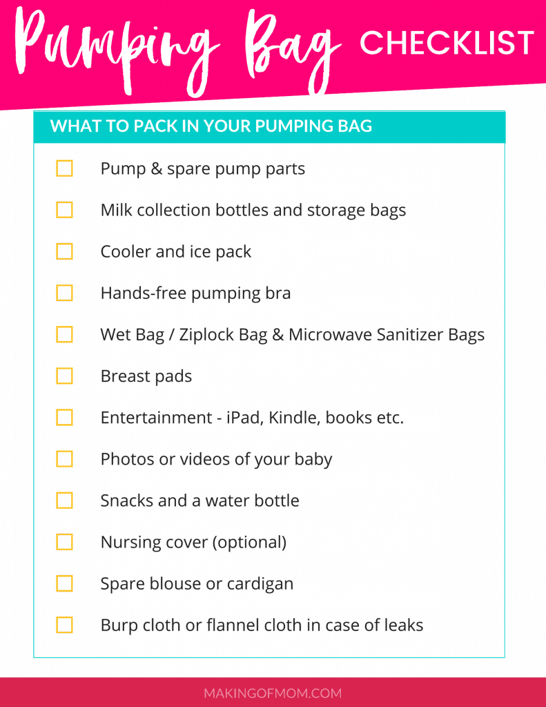 breast-pump-bag-packing-checklist