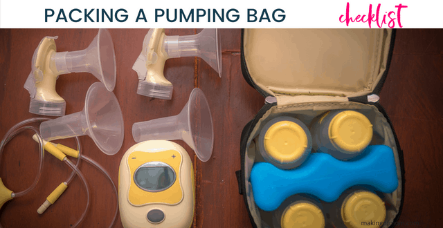 What to Pack in Your Breast Pump Bag – Printable Checklist!