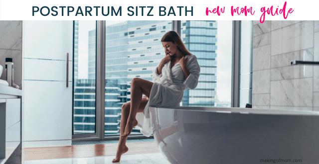 Postpartum Sitz Bath: What Every New Mom Needs to Know