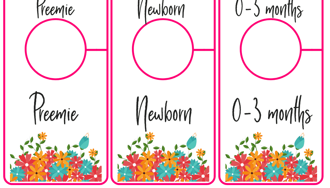 Free Printable Baby Closet Dividers – Preemie to 24 Months