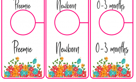 Free Printable Nursery Closet Dividers – Preemie Baby to 24 Months