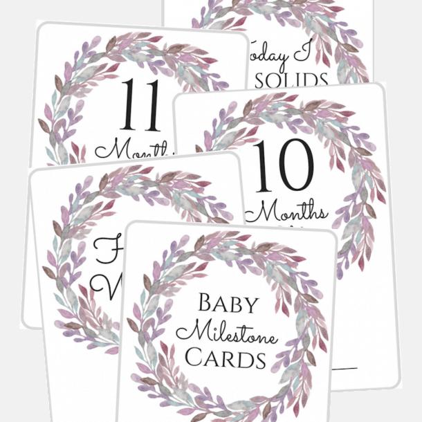 Elegant Baby Milestone Cards Free Printables