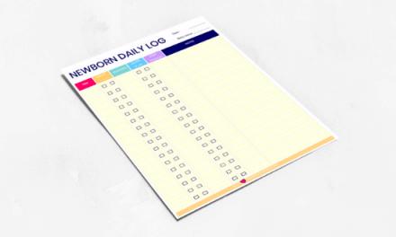 Newborn Daily Log – Printable Baby Feeding, Diaper and Sleep Schedule Tracker