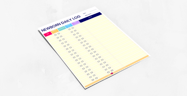 Newborn Daily Log – Printable Baby Feeding, Diaper and Sleep Schedule Tracker