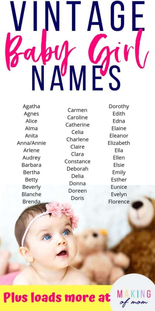 old fashioned baby girl names (2)