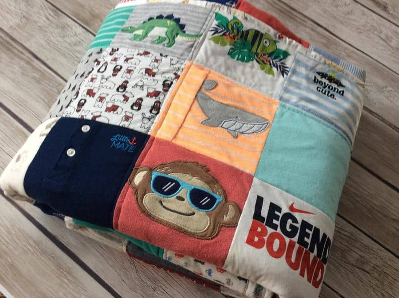 quilt from baby clothes - stitchedinprayer