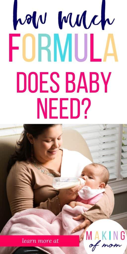 formula feeding baby