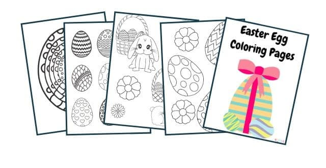 10 Easter Egg Coloring Pages – Free Printable