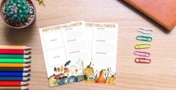 halloween printable on desk